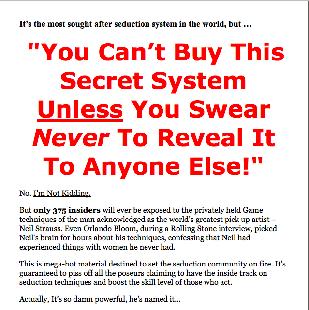A copywriting sales letter with red color psychology
