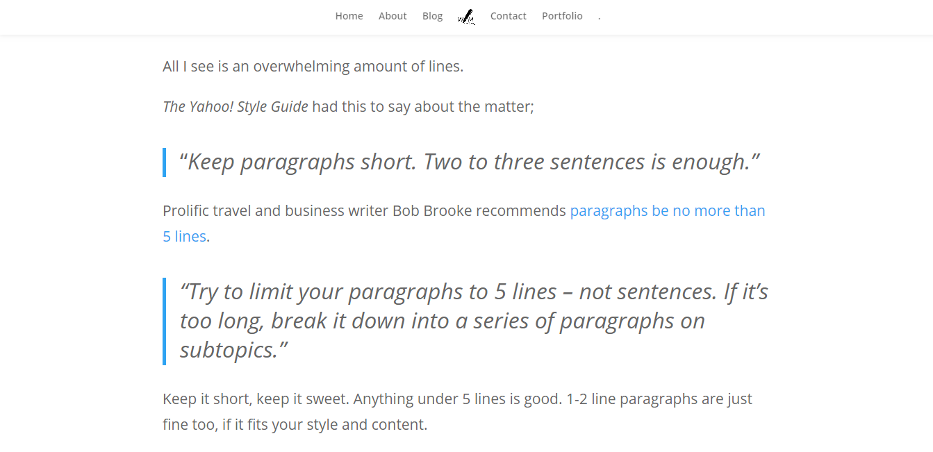 an example of outbound linking and a pull quote